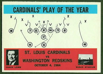 Cardinals Play of the Year 1965 Philadelphia football card