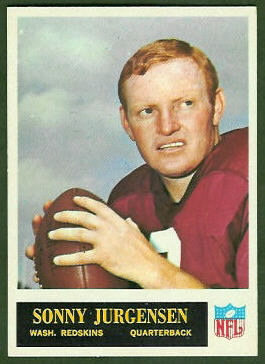 Sonny Jurgensen 1965 Philadelphia football card