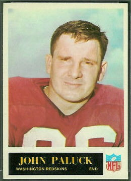 John Paluck 1965 Philadelphia football card