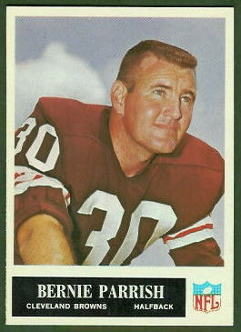 Bernie Parrish 1965 Philadelphia football card