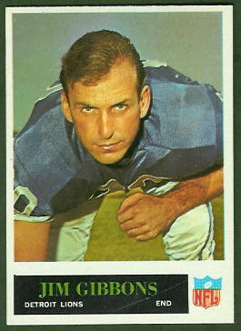 Jim Gibbons 1965 Philadelphia football card