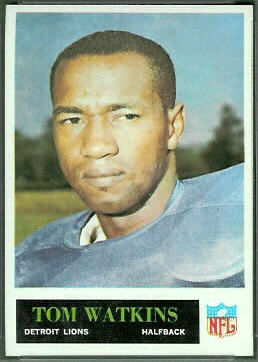 Tom Watkins 1965 Philadelphia rookie football card
