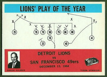 Lions Play of the Year 1965 Philadelphia football card