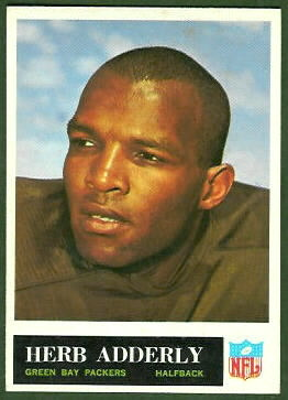 1965 Philadelphia Herb Adderley football card