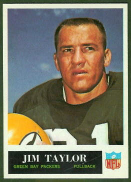 Jim Taylor 1965 Philadelphia football card