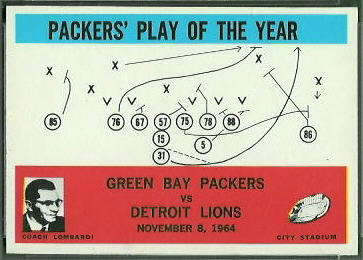 Packers Play of the Year 1965 Philadelphia football card