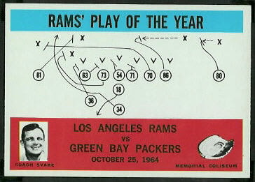 Rams Play of the Year 1965 Philadelphia football card
