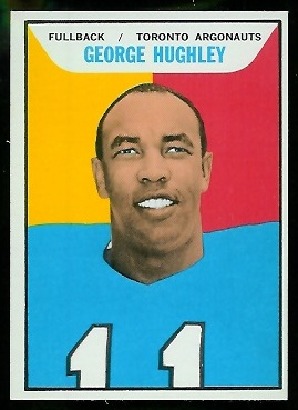 George Hughley 1965 Topps CFL football card