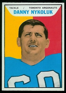 Danny Nykoluk 1965 Topps CFL football card