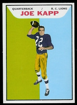 Joe Kapp 1965 Topps CFL football card