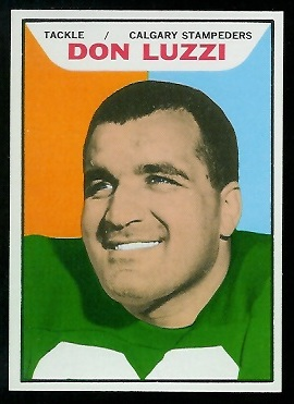 Don Luzzi 1965 Topps CFL football card