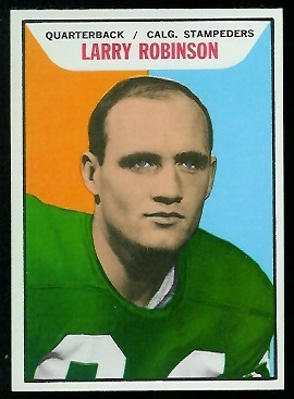 Larry Robinson 1965 Topps CFL football card