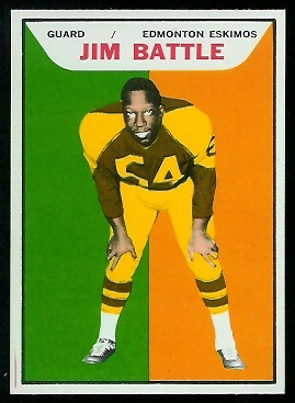 Jim Battle 1965 Topps CFL football card
