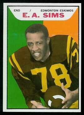 E.A. Sims 1965 Topps CFL football card