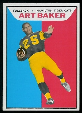 Art Baker 1965 Topps CFL football card