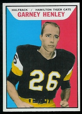 Garney Henley 1965 Topps CFL football card