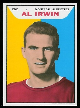 Al Irwin 1965 Topps CFL football card