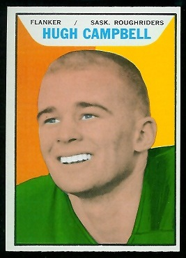 Hugh Campbell 1965 Topps CFL football card