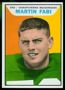 Martin Fabi 1965 Topps CFL football card