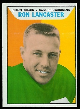 Ron Lancaster 1965 Topps CFL football card