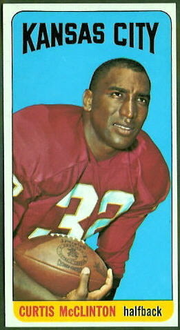 Curtis McClinton 1965 Topps football card