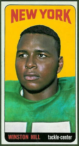 1965 Topps Winston Hill rookie football card