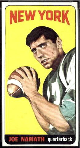 Joe Namath 1965 Topps football card