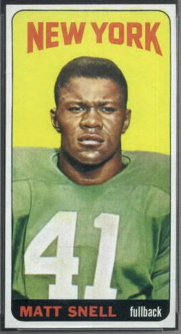 Matt Snell 1965 Topps football card