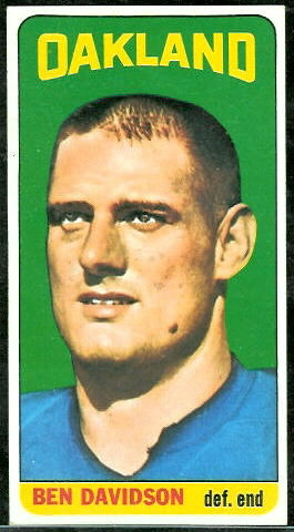 Ben Davidson 1965 Topps rookie football card