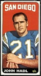 John Hadl 1965 Topps football card