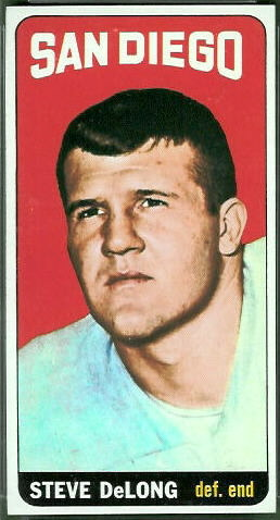 Steve DeLong 1965 Topps football card
