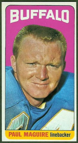 Paul Maguire 1965 Topps football card