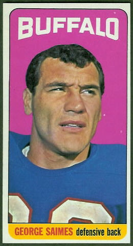 George Saimes 1965 Topps football card