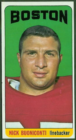 Nick Buoniconti 1965 Topps football card