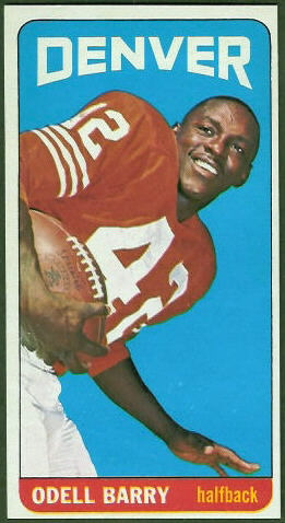 Odell Barry 1965 Topps football card
