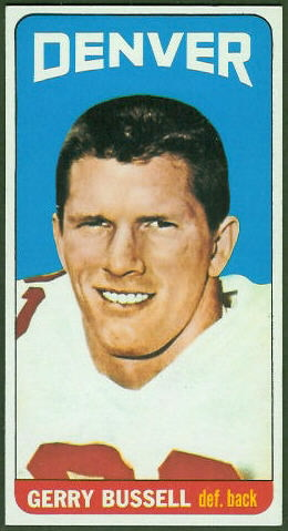 Gerry Bussell 1965 Topps football card