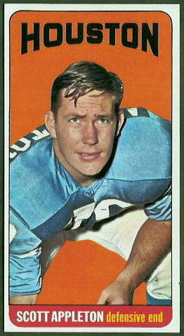 Scott Appleton 1965 Topps football card
