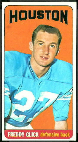 Freddy Glick 1965 Topps football card