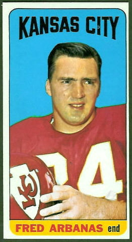 Fred Arbanas 1965 Topps football card