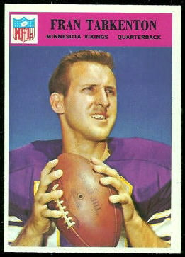 Fran Tarkenton 1966 Philadelphia football card