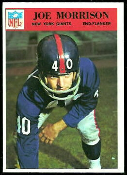 Joe Morrison 1966 Philadelphia football card