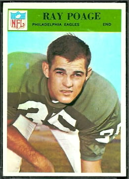Ray Poage 1966 Philadelphia football card