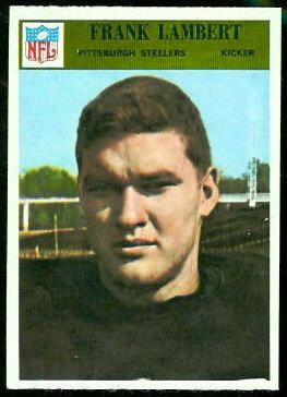 Frank Lambert 1966 Philadelphia football card