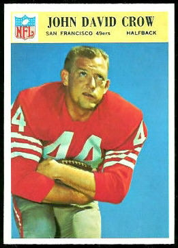 John David Crow 1966 Philadelphia football card