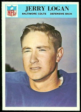Jerry Logan 1966 Philadelphia football card