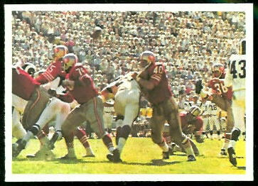 49ers Play 1966 Philadelphia football card