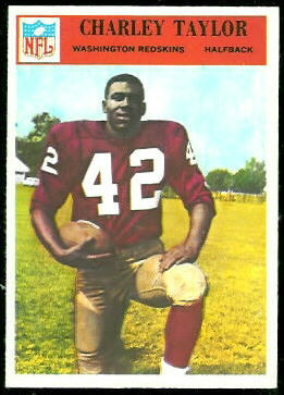Charley Taylor 1966 Philadelphia football card