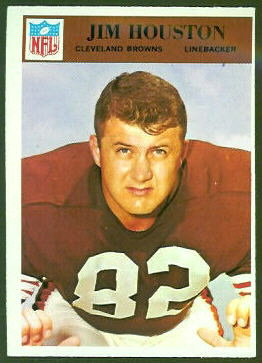 Jim Houston 1966 Philadelphia football card