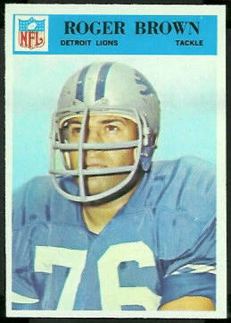 Roger Brown 1966 Philadelphia football card