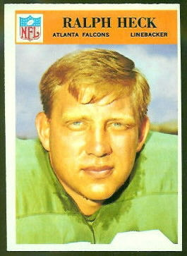 Ralph Heck 1966 Philadelphia football card